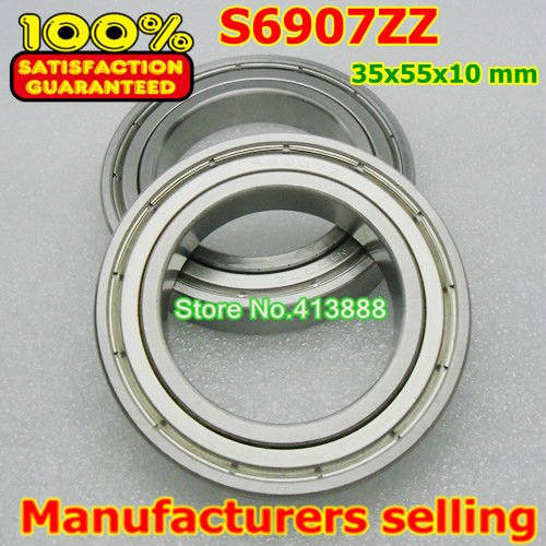 (1pcs) SUS440C environmental corrosion resistant stainless steel deep groove ball bearings S6907ZZ 35*55*10  mm 4pcs lot high quality abec 1 z2v1 stainless steel deep groove ball bearings s6005zz 25 47 12 mm