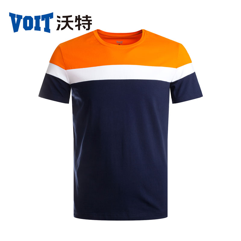 2017 VOIT Summer font b Men s b font sports round neck knitted short sleeved font
