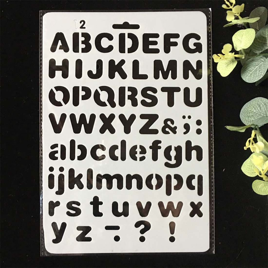 11 Pollici Lettere Di Alfabeto 2 Fai Da Te Stratificazione Stencil Pittura Scrapbooking Stamping Goffratura Album Di Carta Modello Di Scheda Grande Liquidazione