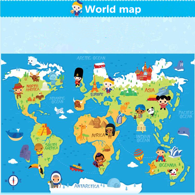 World map foam puzzle mat world map jigsaw puzzle kiyobaby 3d aliexpress 6pcs set baby puzzle mat carpet gym play mat 60 60 2cm cartoon world map sciox Image collections