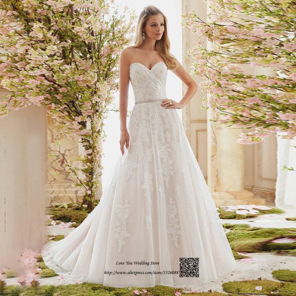 Spring Vintage Wedding Dress Lace Bride Dresses 2017