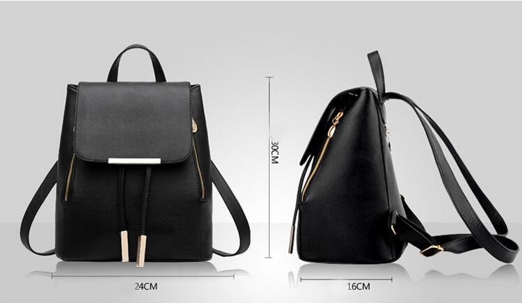 Backpack Women Leather Backpacks High Quality Pu Bagpack Mochila Feminina Rucksack Female School Bags