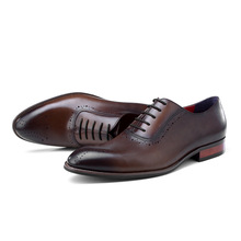 QYFCIOUFU Luxury Italian Formal Dress Shoes For Men Handmade Wedding Office Mans Suits Footwear Genuine Cow Leather Oxford Shoes