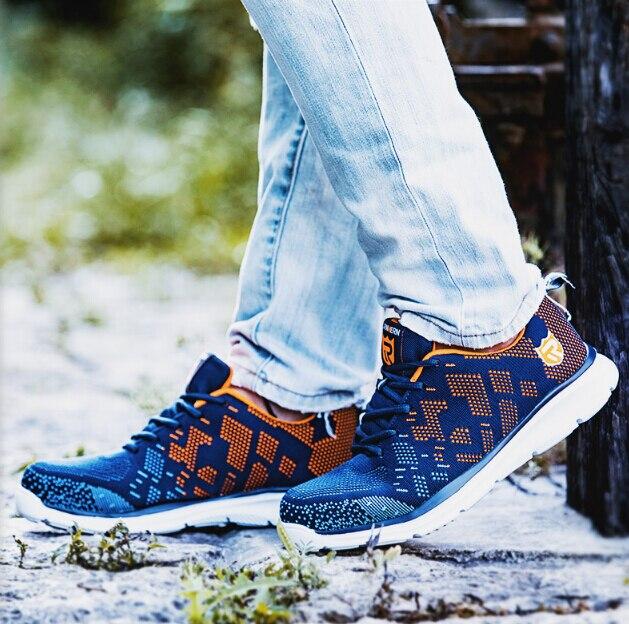 Xwdvv léger respirant hommes chaussures de sécurité en acier orteil chaussures de travail pour hommes Anti-fracassant Construction Sneaker avec réfléchissant