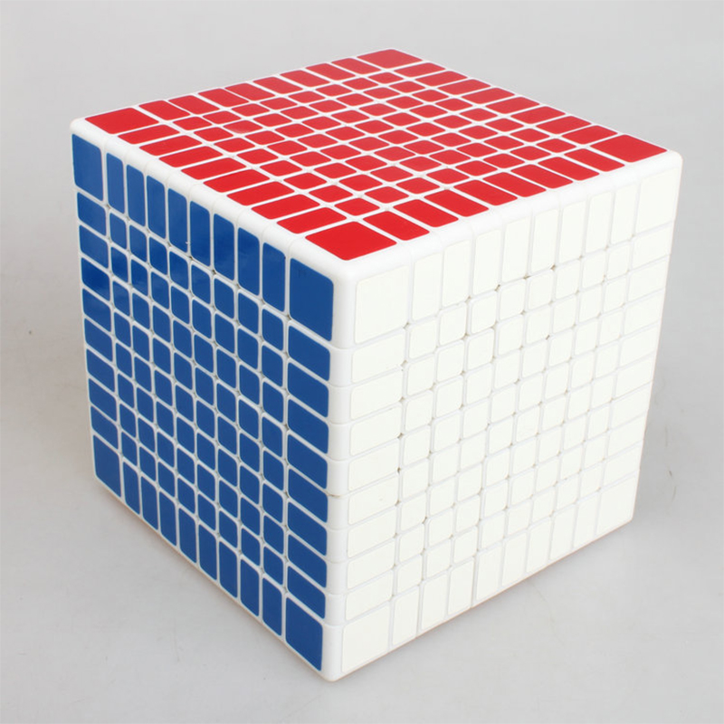 10X10X10 Magic Cubes White 10 Layers Professional Training Cube Toy for Children Adult Gift Dropshipping brand new dayan wheel of wisdom rotational twisty magic cube speed puzzle cubes toys for kid children