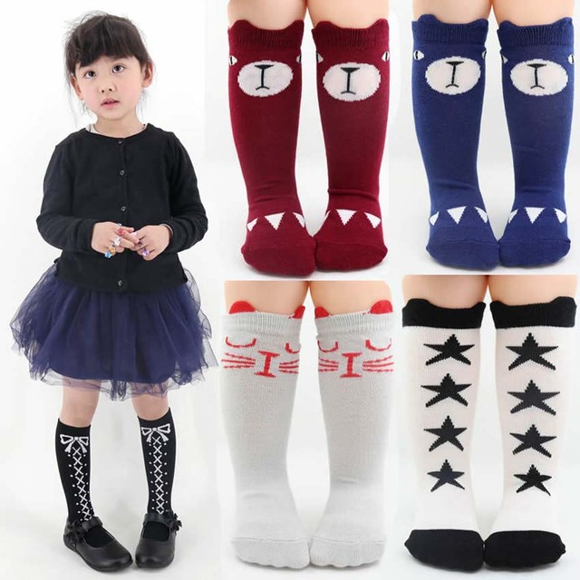 d94a42e7f Cartoon Cute Children Socks Print Animal Cotton Baby Kids Socks Knee High  Long Fox Socks For Toddler Girl Clothing Accessories