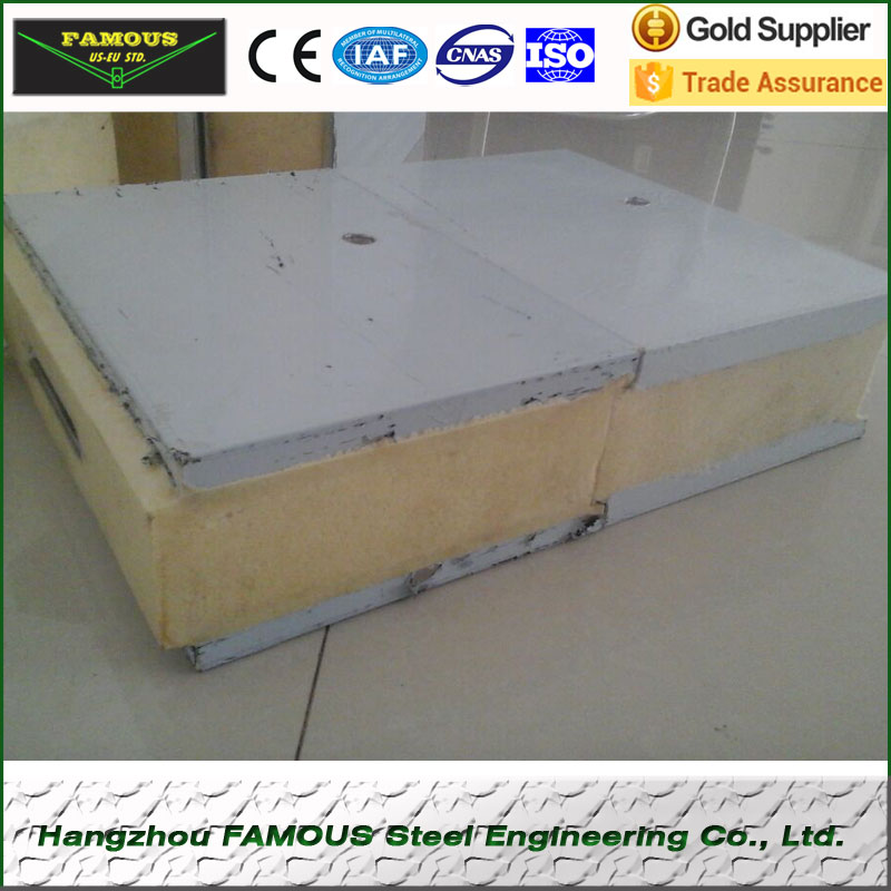 Polyurethane Sandwich Steel Panels For Partition Wall Use