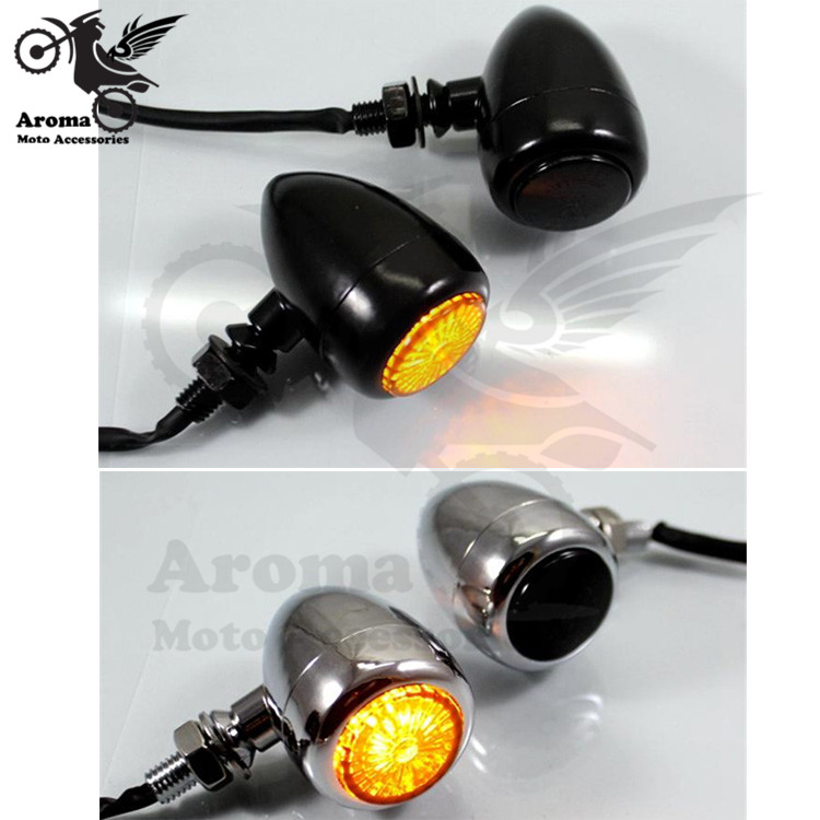 top quality chrome silver black scooter LED moto indicator universal motorbike flasher for harley motorcycle turn signal light