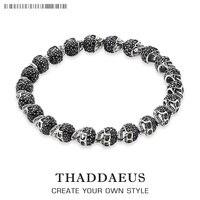Black Zirconia Skeleton Skul Bracelet Thomas Style Heart Good Jewerly For Men And Women 2017 Ts