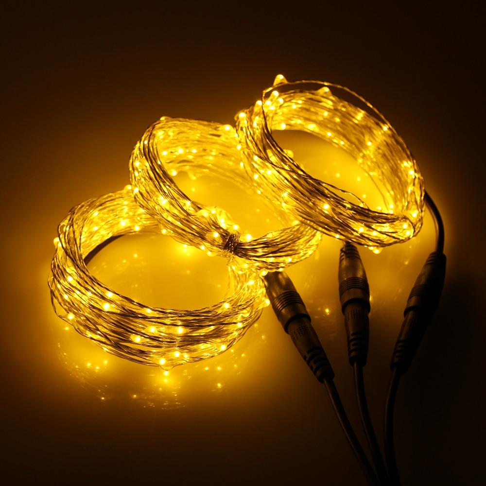 3 * 33Ft 100 LED-tilkoblingsbar utendørs julestjernelys kobbertråd - Ferie belysning - Bilde 6