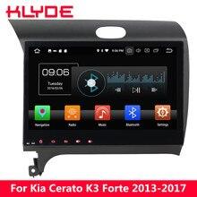 KLYDE 10,1 «ips 4G WI-FI Android 8,0 Octa Core 4 Гб Оперативная память 32 GB Встроенная память Автомобильный мультимедийный DVD плеер радио для Kia K3 Cerato Форте 2013-2017