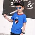 Pioneer crianças meninos camiseta verão crianças camisetas menino tshirts crianças tees tamanho 4 t-16 t crianças roupas moda camisas da criança