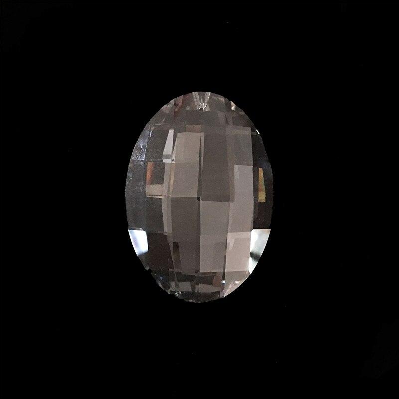 63mm 10ks / lot Čirý křišťálový lustr přívěsky skleněné záclony díly pro domácí dekorace rákosí