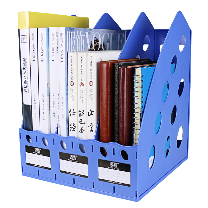 deli triplicate magazine plastic holders file dividers