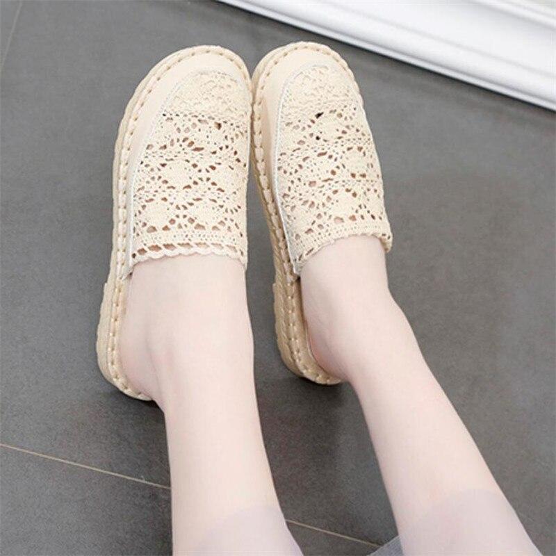 COOTELILI/Для женщин Летние тапочки женская обувь Повседневное скольжения на Туфли без каблуков женские шлепанцы женская обувь на толстой плоской подошве пляжные полые Тапочки      АлиЭкспресс