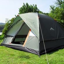 Три человека 200*200*130 см двойной Слои атмосферостойкий открытый палатка для Рыбная ловля, Охота приключений и Семья партии
