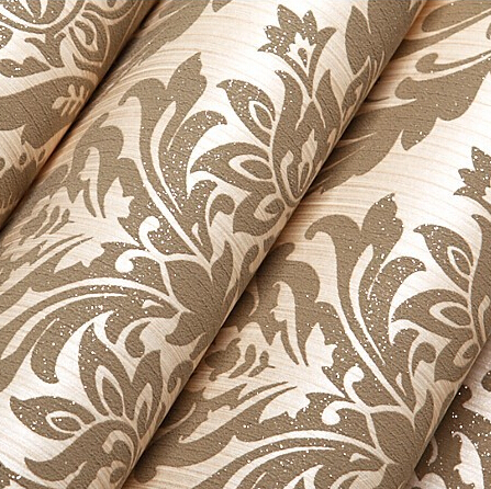 beibehang European Fashion woven Wallpaper Roll Flocking Glitter Damask Wall paper For Living room Bedroom Sofa TV Backdrop Gold