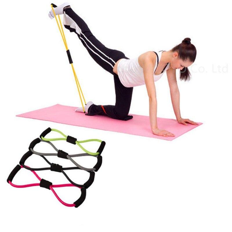 1 ADET Direnç Eğitim Grupları Tüp Egzersiz egzersiz Yoga 8 Tip Vücut Geliştirme Fitness Ekipmanları Aracı