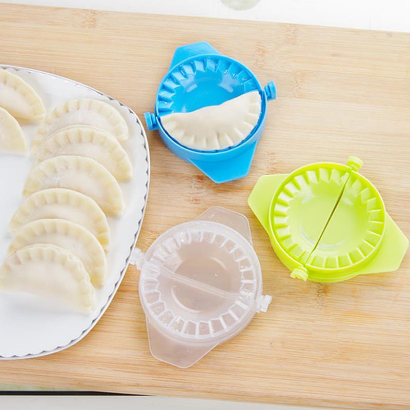 1x Kitchen Gadgets Hand Manual Pack Dumpling Jiaozi Maker Device   Cooking Tools