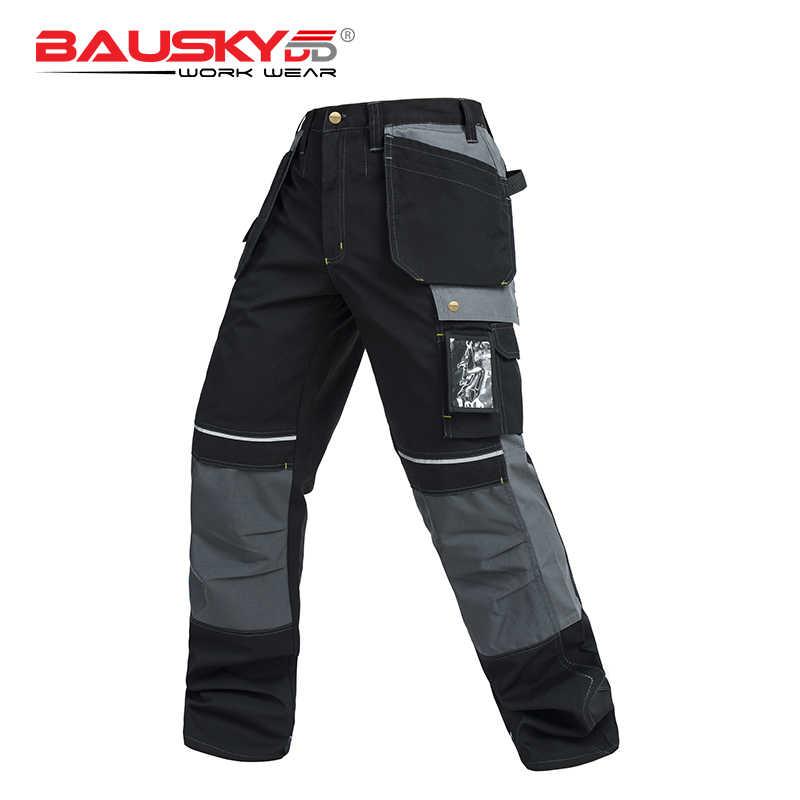 Мужской долговечный, напольный рабочий слой брюки рабочие брюки принадлежность для брюк с наколенниками