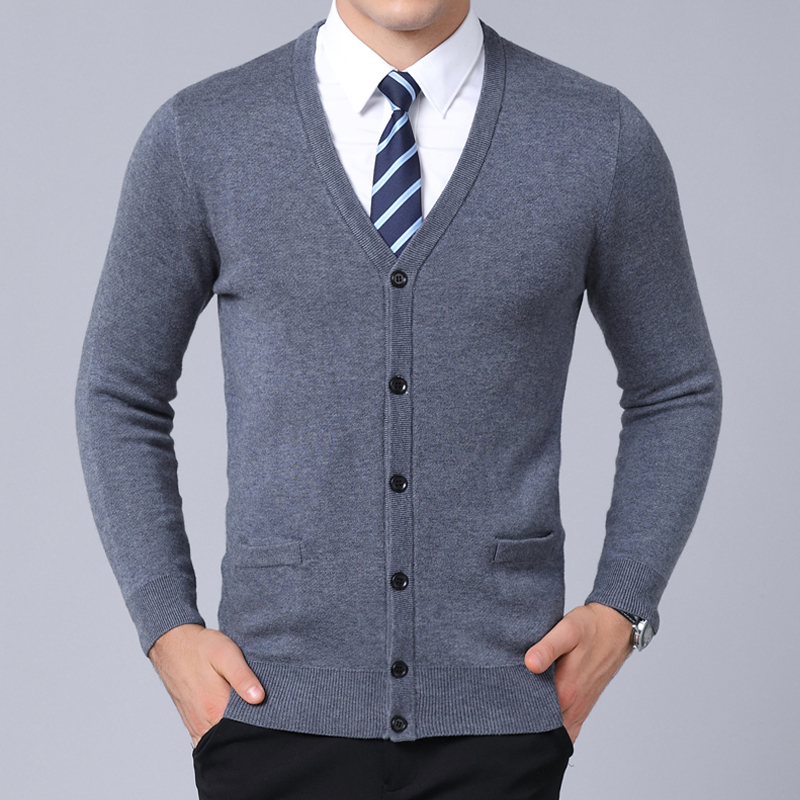 2019 New Fashion Brand Sweater For Mens Cardigan V Neck Slim Fit Jumpers Knitred Warm Winter Korean Style Casual Mens Clothes