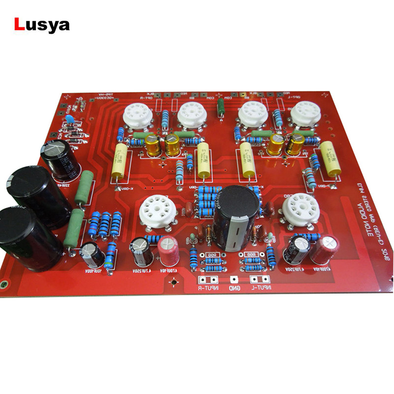 High Quality Hi-End Stereo Push-Pull EL84 Vaccum Tube Amplifier PCB DIY Kit Ref Audio Note PP Board D4-004