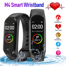 M4 Smart Bluetooth Wristband Heart Rate Blood Pressure Monitor Sport Pedometer B