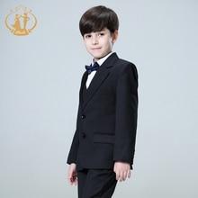 Nimble black suit for boy Solid boys suits for weddings boys blazer costume enfant garcon mariage jogging garcon terno menino