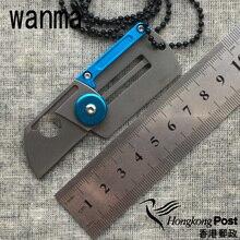 Dog Tag folding knife 9Cr18MoV Pocket key ring knife outdoor Survival camp hunting pocket knife EDC tools