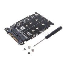 2 в 1 M.2 NVMe SATA-Bus NGFF SSD к PCI-e U.2 SFF-8639 адаптер PCIe M2 конвертер настольный компьютер