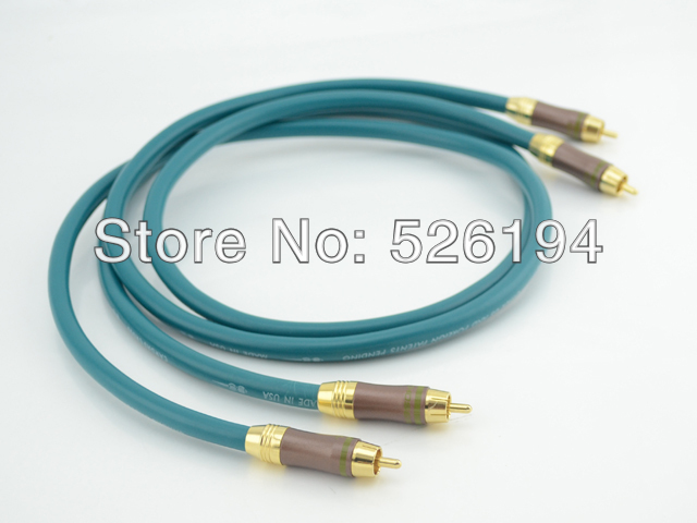 Free shipping  Pair Cardas Cross 5N pure copper RCA Audio cable with gold plated RCA plug connector free shipping 4 colour gold plated rca socket rca connector 8pcs lot