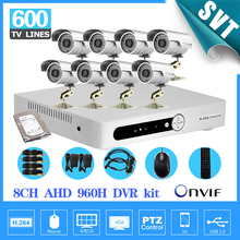 CCTV 8CH AHD 960P recording DVR recorder Outside Waterproof IR Safety Digicam video surveillance System 1TB HDD 8channel SK-190
