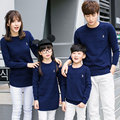 Family Matching Solid Sweaters O-Neck Mother Daughter Father Son Clothes Family Style Set Parent-Child Family Clothing LH11
