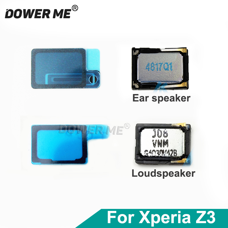 Dower Me Top Earspeaker Buzzer Ringer Bottom Loudspeaker With Waterproof Adhesive Sticker For Sony Xperia Z3 D6603 SOL26 D6653