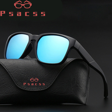 Psacss Square Polarized Sunglasses Men 2019 Retro TOP