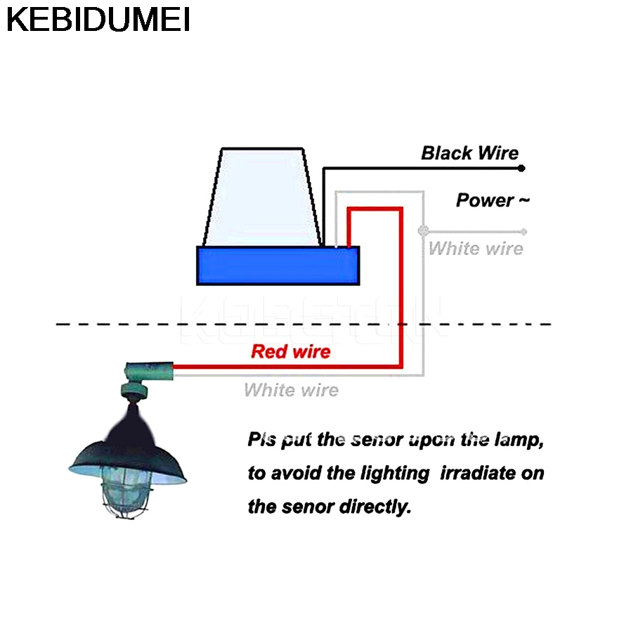 Street Lighting Photocell Wiring Diagram Posts Dc Dimmer Switch 1pc Automatic Auto On Off Light Ac Double Outlet