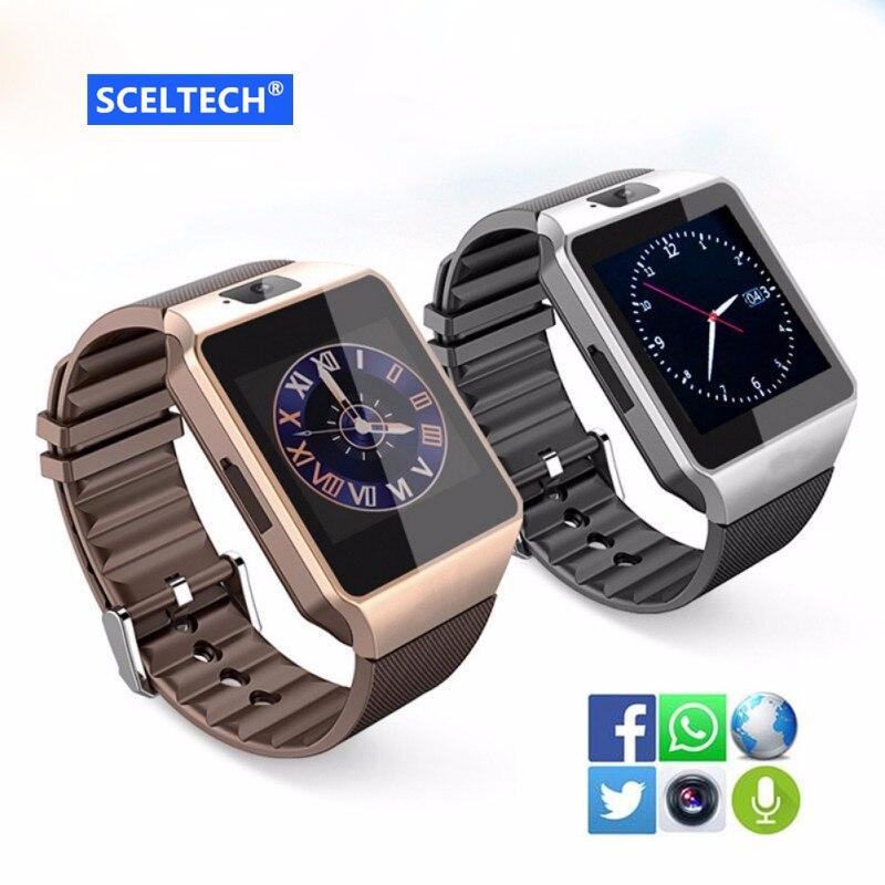 Galleria fotografica SCELTECH DZ09 Bluetooth Astuto Della Vigilanza Relogio Android <font><b>Smartwatch</b></font> Phone Call SIM TF Della Macchina Fotografica per IOS iPhone Samsung HUAWEI VS Y1 Q18