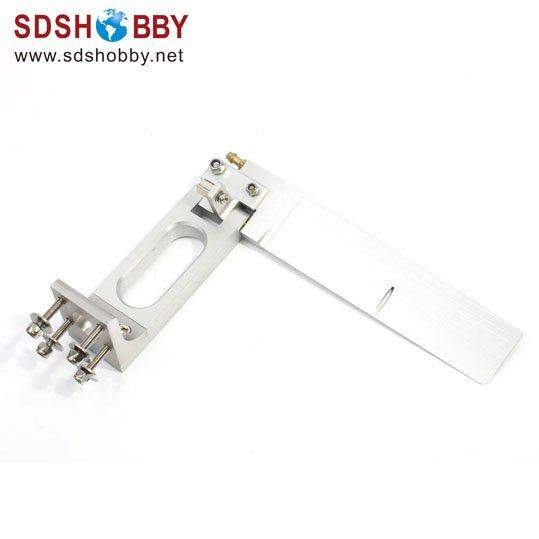160 Long Rudder single water entrance length=90mm High=165mm aluminum alloy 160 single rudder length 90mm height 160mm with long double water pickups for 26cc boat