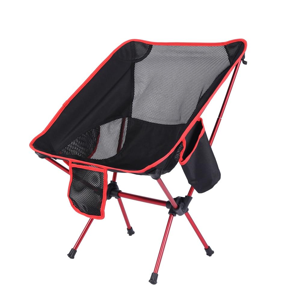 Camping léger chaise pliante Portable Camp salon pêche chaises de plage randonnée pique-nique BBQ siège tabouret lune chaise outil de plein air