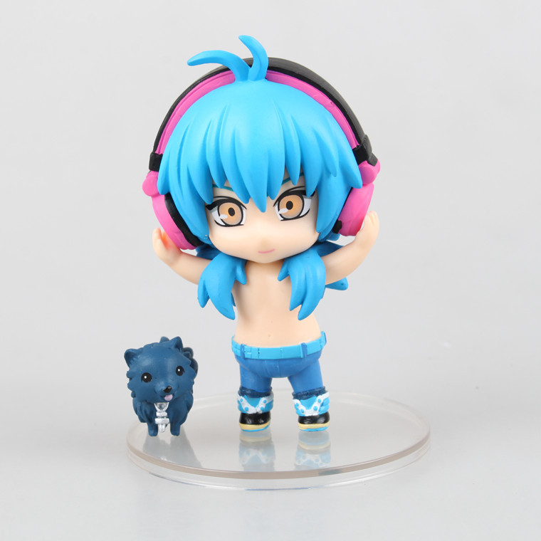 Hot 4pcs/lot 9CM pvc Japanese sexy anime figure Q version Dramatical Murder Seragaki Aoba Ren  action figure  brinquedos