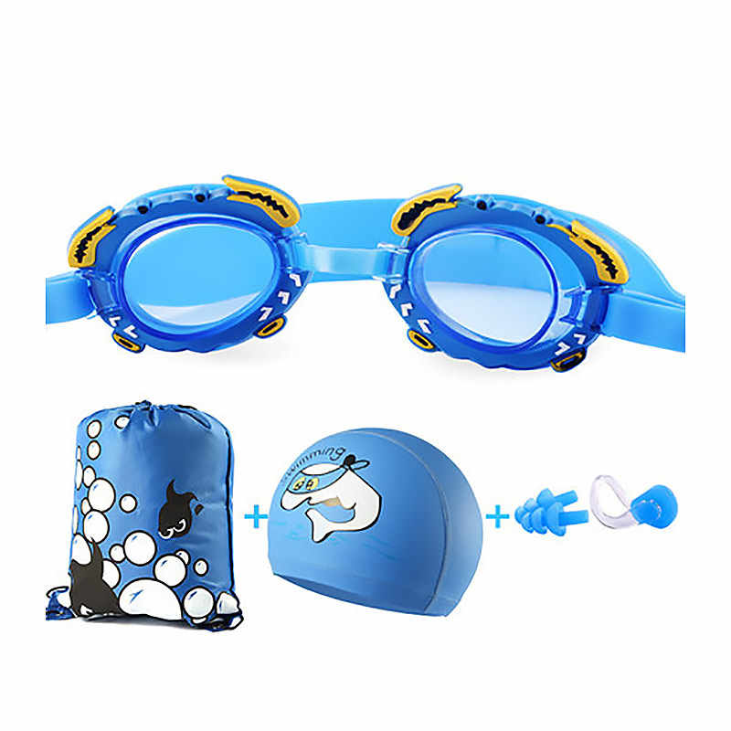 5b13df19a43e0 ... Portable Baby Swimming Accessories Swimming Goggles Earplugs Beach Bag Swimming  Cap 5pcs/set Girls Boys ...