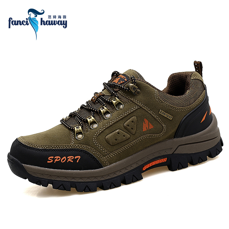 b26e21ff9 FANCIHAWAY Men Hiking Shoes Outdoor Waterproof Breathable Trekking Shoes  Travel Climbing Sport Sneakers