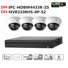 DH Video Camera Surveillance Kit With NVR2108HS-8P-S2 IP Camera IPC-HDBW4433R-ZS P2P Surveillance Camera System Easy To Install