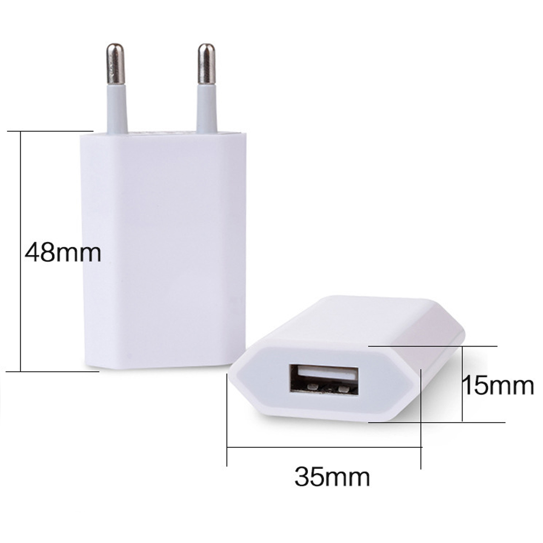 Universal EU Plug USB Power Home Wall Adapter Travel Charging For iPhone X 8 7 6 6s Plus iPad