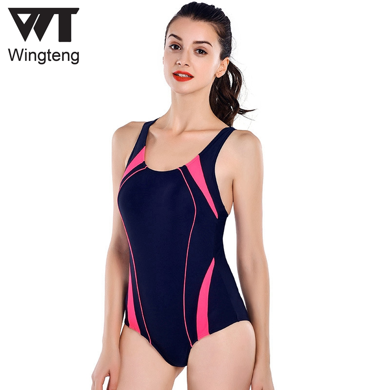 2018 Women Professional One Piece Swimwear Female push up Bodysuit Swimsuit Training Sports wear Racing Competition Bathing Suit phinikiss printed racing swimwear large size one piece suit professional swimsuit sport bathing suit competition 2016 triathlon