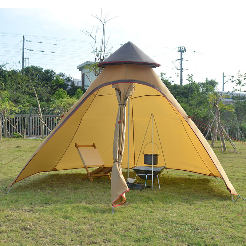 On sale Luxury Indian yurt 2 layer driving hiking fishing beach party faimly hexagonal tower base cycling outdoor camping tent outdoor camping hiking automatic camping tent 4person double layer family tent sun shelter gazebo beach tent awning tourist tent
