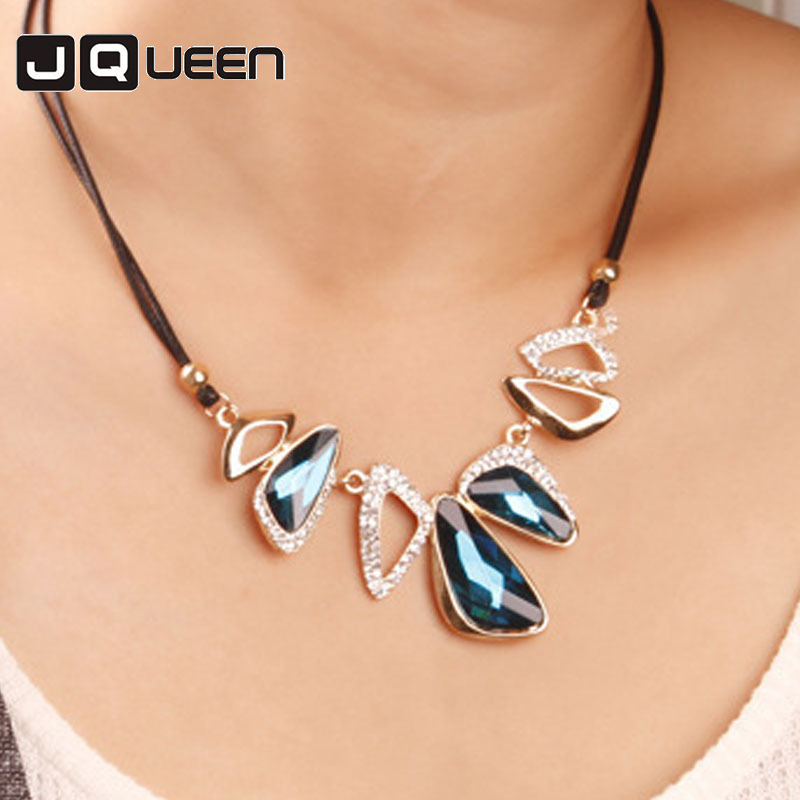 Back To Search Resultsjewelry & Accessories Marte&joven Bohemia Summer Style Collar Flower Statement Necklace Romantic Gold Color Blue Rhinestone Womens Necklace Modern And Elegant In Fashion
