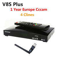 1 Year Europe Cccam Server 4 Clines DVB S2 V8S Plus Satellite Receiver MPEG4 1080P Full