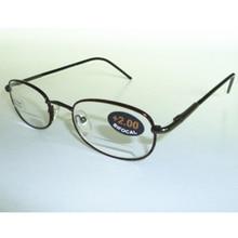 Business Style  Double Lens Reading Glasses Metal Presbyopic Women Men Eyeglasses