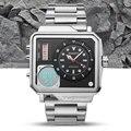 BOAMIGO Marke Männer Sport Digitale Uhren 2 zeit Zone Big Design Mann Mode Uhr Rechteck Quarz Armbanduhren Relogio Masculino-in Quarz-Uhren aus Uhren bei
